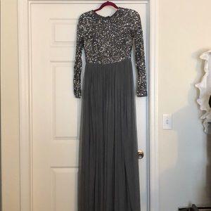 Gray Sequin Maxi Dress
